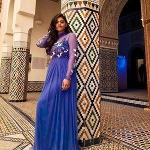 Blue Maxi full sleeved dress